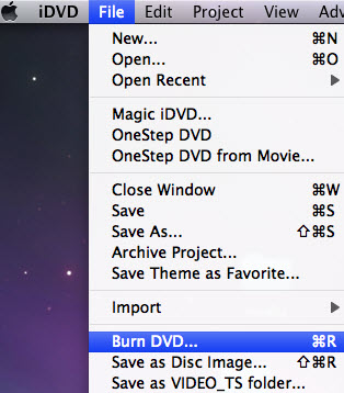 burn iPhone recorded photos and videos in iDVD on Mac