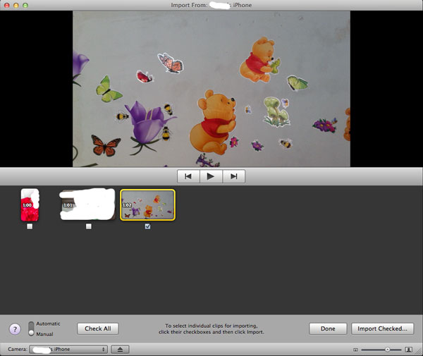move videos from iPhone to Mac iMovie
