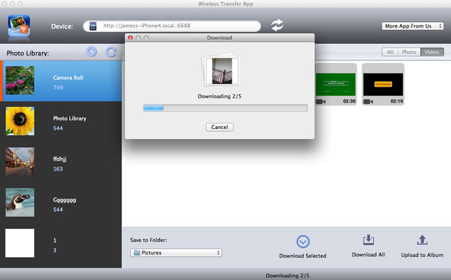 download iPhone video to Mac