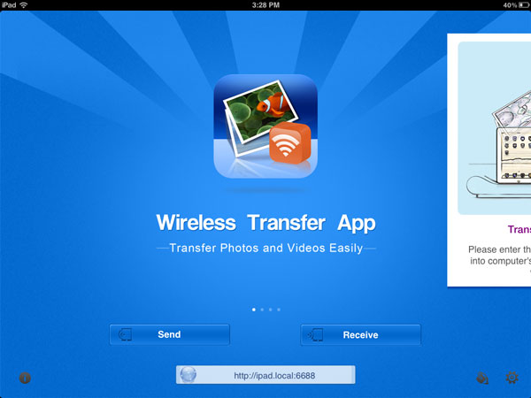transfer files from PC to iPad