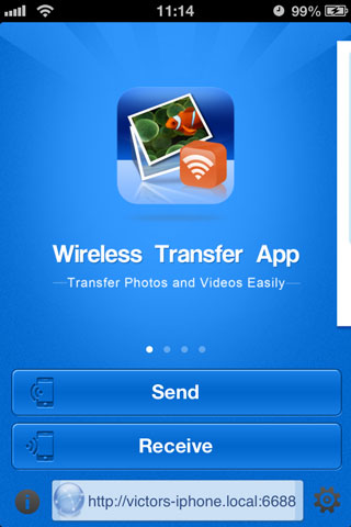 wireless transfer app for iPhone